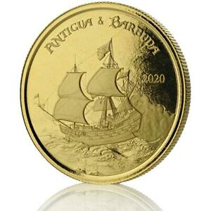 2020-1-oz-Antigua-amp-Barbuda-Rum-Runner-9999-Gold-Coin-in-Certi-Lock-A452