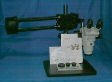 NIB VWR Vista Vision StereoZoom Microscope 82026-654 Binoc Roller Stand w/ Acces