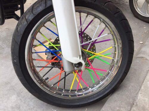 HMParts Dirt Bike Pit Bike Fahrrad Speichen Dekoration Deko Set lila