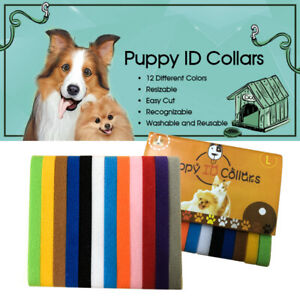 12-Colours-Whelping-ID-Collar-Bands-Pet-Puppy-Kitten-Identification-Collar-Tags