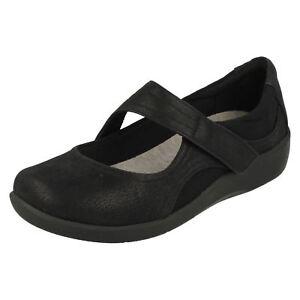 D fit Noires Uk à Bella Sillian r14a 3 plates Chaussures Dames Clarks 8 S1vqpv