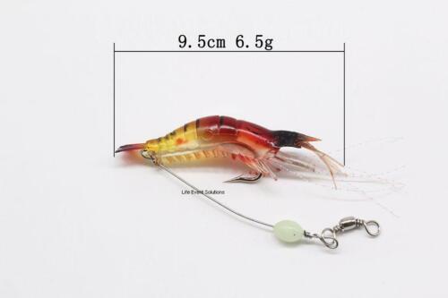 **FREE SHIPPING** 5x Soft Plastic Fishing Lures Tackle Prawn Shrimp Lure Colours
