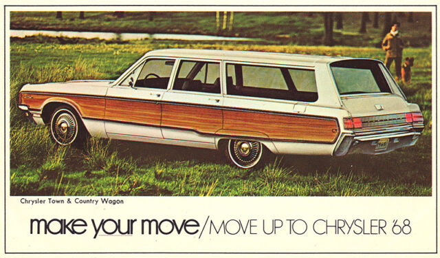 1968 chrysler town country station wagon vintage nos original dealer 1968 Dodge Wagon 1968 chrysler town country station wagon vintage nos original dealer promo pc