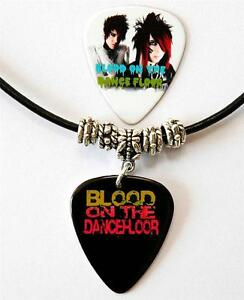 Blood-on-the-Dance-Floor-Guitar-Pick-Black-Leather-Necklace-Pick