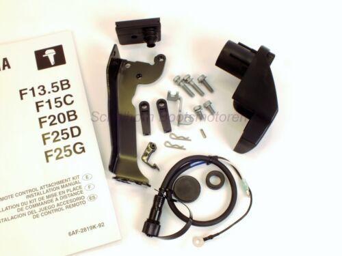 YAMAHA Außenborder Fernschaltung / Fernbedienung  Anbausatz  für F15C und F20B.