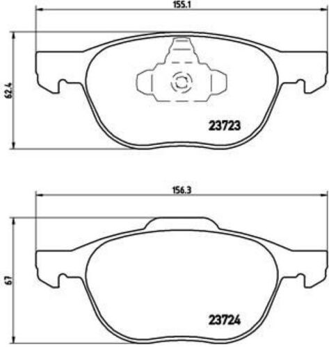 Brembo Sport Bremsscheiben 278mm Beläge vorne für Ford Focus 2 C-Max Volvo V50