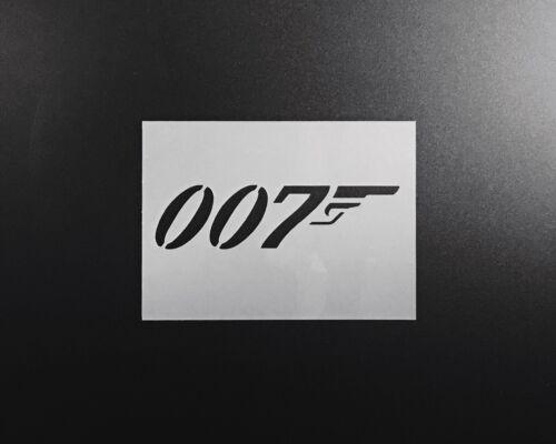 James Bond 007 Stencil Aerógrafo Pared Arte Arte Pintura Decoración del hogar Hazlo tú mismo Reutilizable