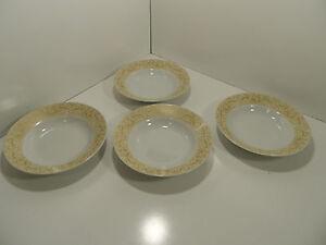 CHRIS MADDEN /JCP Gold/Ivory Soup/Salad Christmas Bowls China - Lot ...