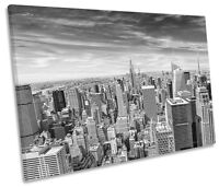 New York City Black & White CANVAS WALL ART SINGLE Picture Print