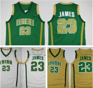 newest ed9e8 4a7d4 Details about Throwback Men's LeBron James #23 High School Basketball  Jerseys Stitched LBJ