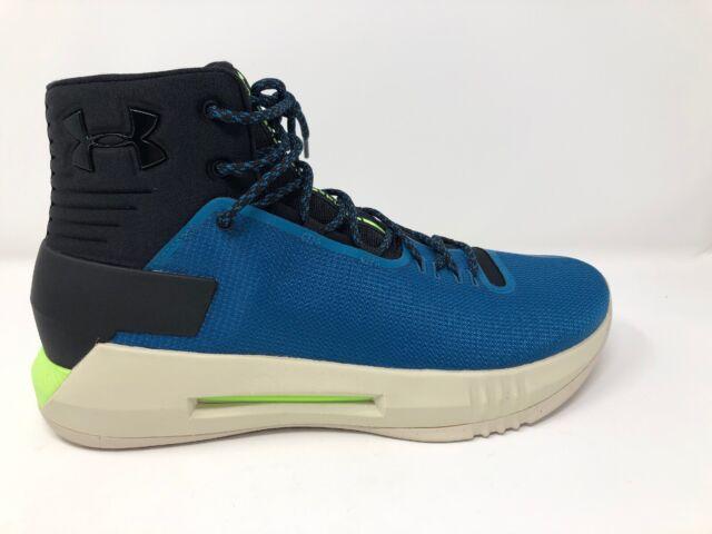 huge discount 02ced b34ed Under Armour Drive 4 Basketball Shoes Blue Black UA 1298309-003 Mens 10