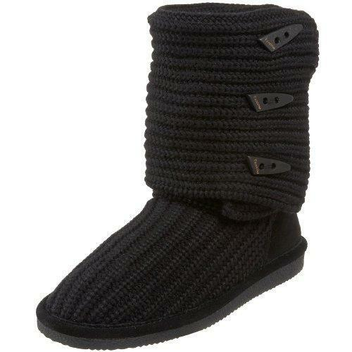 Bearpaw Knit Tall - 658w - Women's Sweater Boots Black - 9