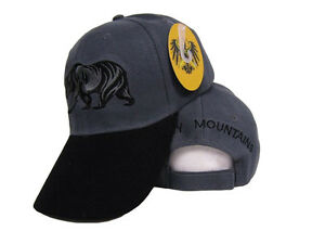 40bc540a3b1 Image is loading Smoky-Smokey-Mountains-Bear-Grey-Gray-Black-Embroidered-