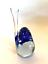thumbnail 6 - Rubelli V.A. Murano Italy Art Glass Blue Bird Original Label 6 inches Tall