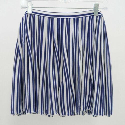 Vanessa Bruno Skirt 100% Silk Womens Pleated Blue