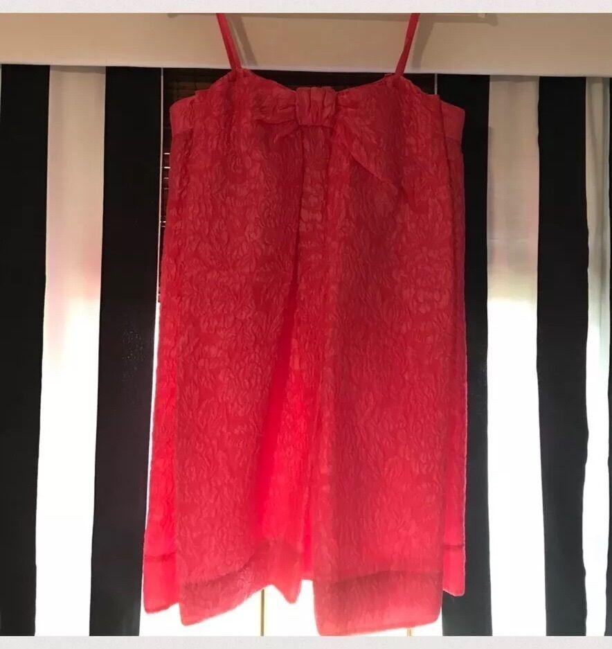 308 NWT BCBG Raspberry Bow Dress Size 6