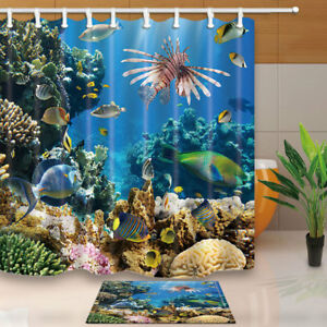 Image Is Loading Sea Animals Underwater With Coral Reef Polyester Fabric