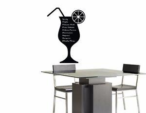 Lavagne adesive murali menu cocktail bar decorazioni da for Lavagne da arredo