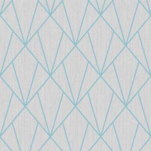 Indra-Papier-Peint-Geometrique-Turquoise-Gris-Muriva-154103-Sparkle