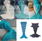 Soft Knitted Mermaid Tail Blanket Handmade Crochet Mermaid Blanket Kids Throw