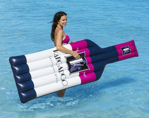 """Swimming Pool Floating Inflatable Wine Bottle 91/"""" Pool Float Mattress"""