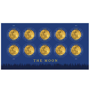 USPS-New-The-Moon-Global-Forever-International-rate-stamp-pane-of-10