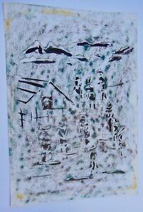 Qualifié A. Savin - Composition Abstraite - Impressioniste - Non EncadrÉe - N°11 Vente De Fin D'AnnéE