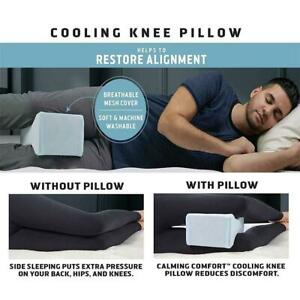 Clever-Cool-By-Calming-Comfort-Cooling-Kniekissen-Foam-Memory-Leg-Support-H5G6