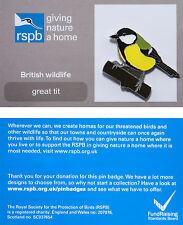 RSPB Pin Badge   Great Tit   GNaH backing card [01220]