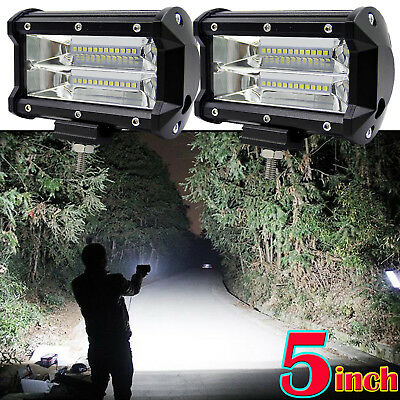 2x 72w Car 12v 24v Led Work Spot Lights Spotlight Lamp Van Atv Offroad Suv Truck