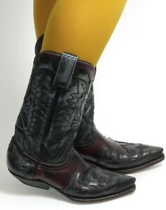 Botas de Cowboy Westernstiefel Line Dance Catalán Estilo Texas Cuero Rancho 37