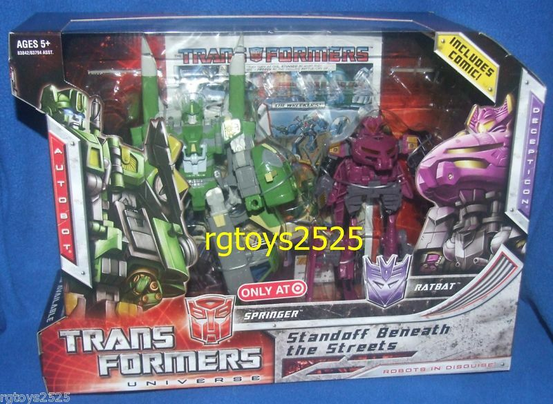 Transformers Universo Springer vs Ratbat Nuevo Exclusivo 2008 Target