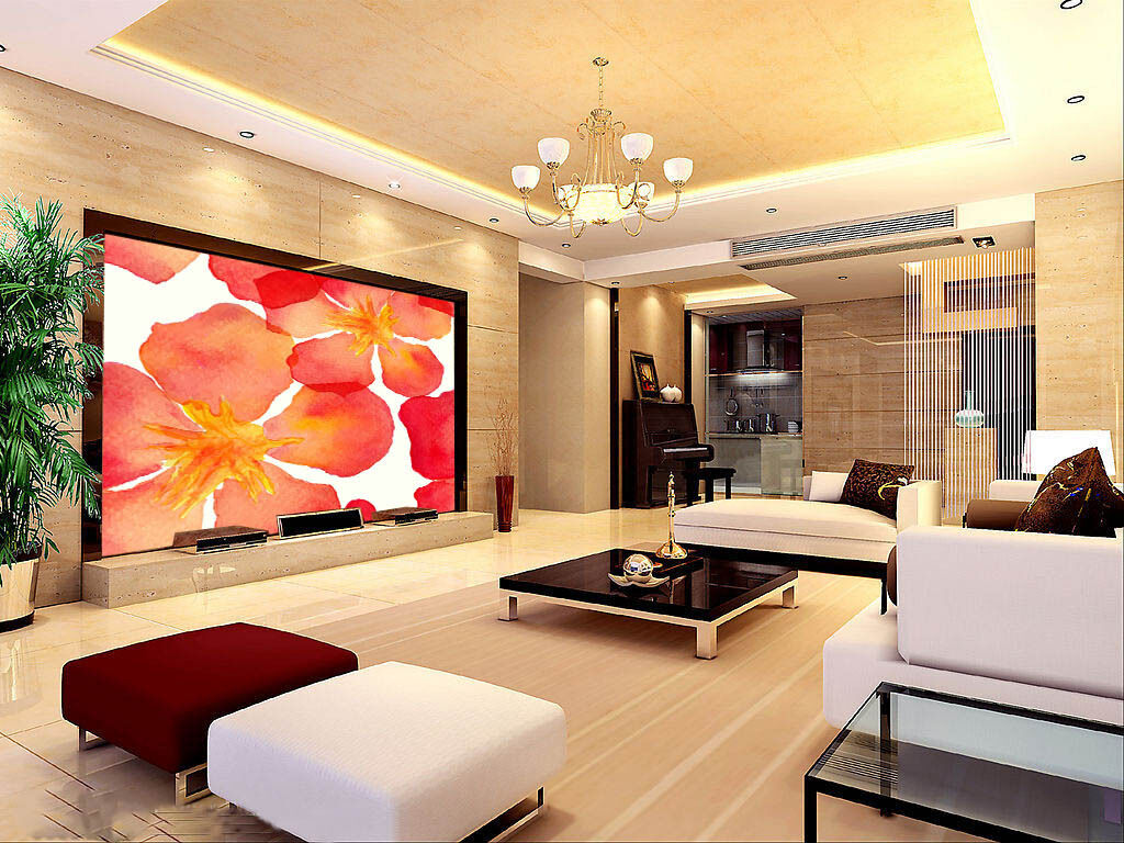 3D Painted Blossom Paper Wall Print Wall Decal Wall Deco Indoor Murals