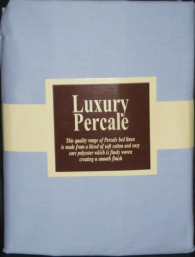 New 10 Deep 4FT 3/4 Bed Fitted Sheet With 2 Free Pillowcases- Blue