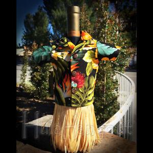 Wine Bottle Gift Outfit Tropical Hawaiian Shirt #1