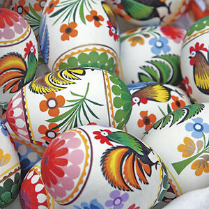 40-Paper-EASTER-Luncheon-Napkins-FOLKY-EASTER-SHELL-EGGS