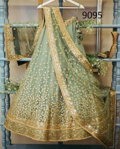 Designer Lehenga Choli Indian Lengha Chunri Wedding Wear Net Lehanga Saree Sari