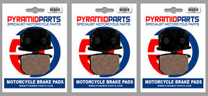 Front & Rear Brake Pads (3 Pairs) for Yamaha XS 650 75-85