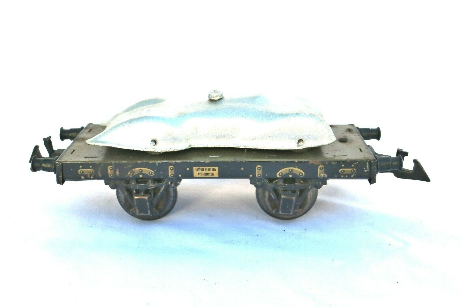 905G  Vintage Bing O Gauge Platform Wagon with Racing Car Load