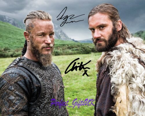 Travis Fimmel Clive Standen Vikings 10x8inch Pre-Print Signed Autographed Photo