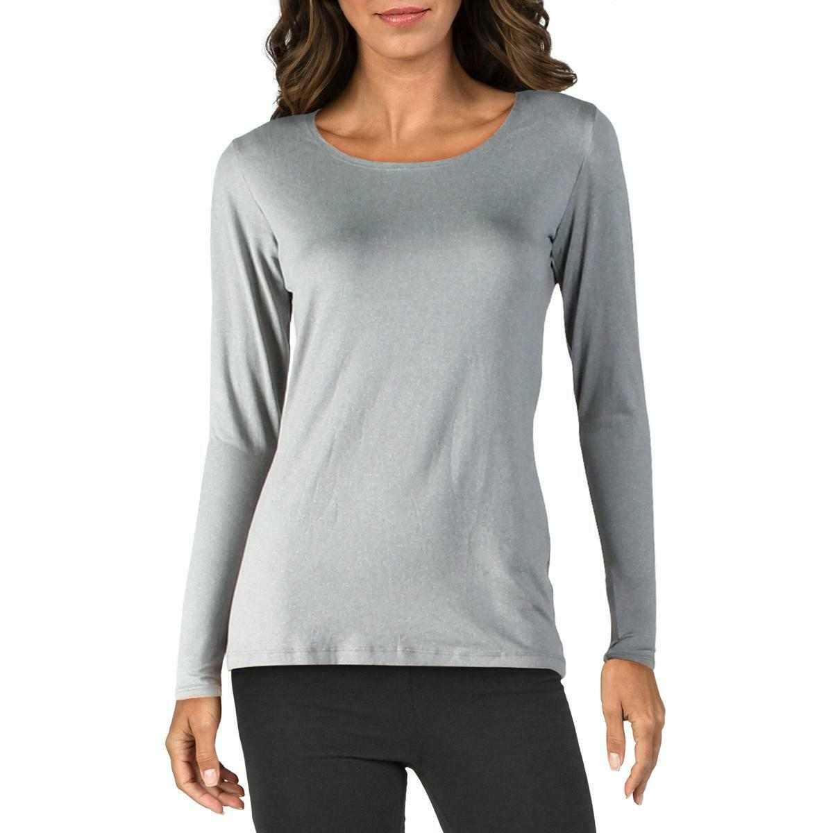 32 Degrees Heat Womens Gray Fitness Running Workout T-Shirt Athletic M BHFO 4166