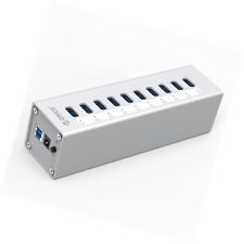 36W 10-Port USB 3.0 Hub, AC Power Adapter for PC and Mac for mining bitcoins