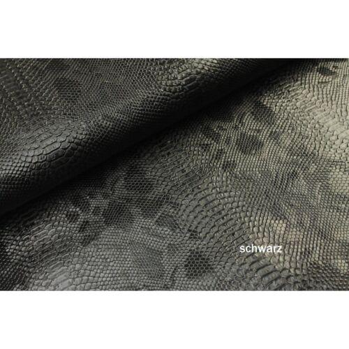 Schlangen Leder VIELE FARBEN Kunstleder 70 x 30cm  Phyton Leder Taschen