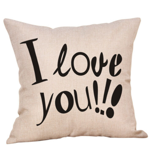 New Home Happy Valentine S Day Throw Pillow Case Sweet Love Square Cushion Cover Home Décor Pillows Home Garden