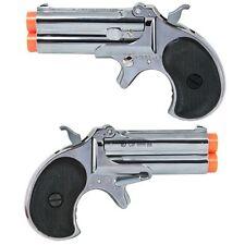 ASG Marushin Derringer Airsoft Gun CHROME metal Double Barrel Green Gas Pistol