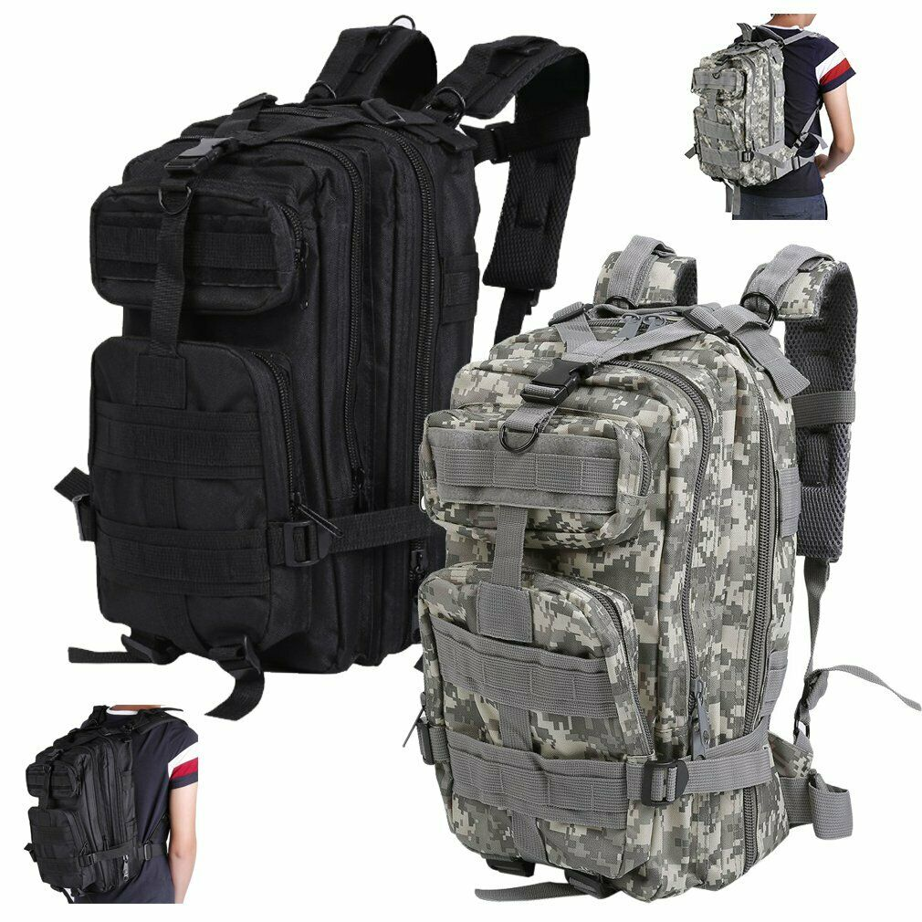 EXTERIOR MILITARY TACTICAL BAGS BACKPACK CAMPING HIKING BAG CAMOUFLAGE ... - s l1600