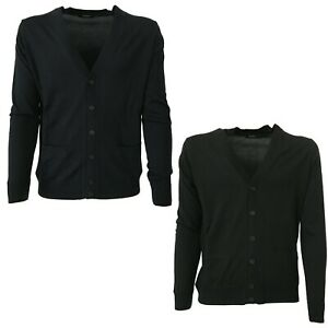 Mens-Cardigan-with-Button-and-Pockets-Alpha-Studio-AU-1016E-100-Wool