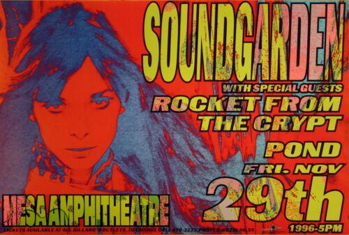 Soundgarden 1996 Mesa, Arizona Gig Poster by Frank Kozik 9654 S/N