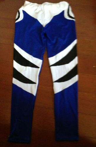 New Lycra spandex zentai wrestling tights//pants blue//black//White S-XXL