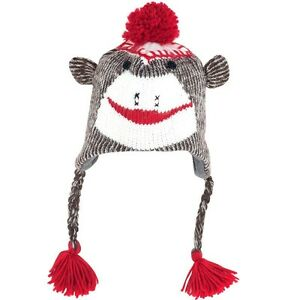 The-Original-Brown-Sock-Monkey-Hat-with-Poly-Fleece-Lining-New-with-tags